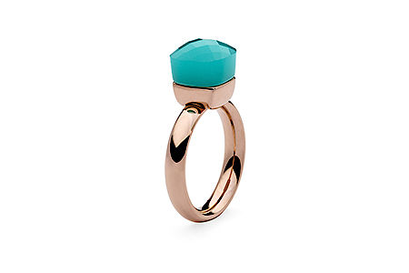 Ring rosegold, Gr 50-60,  aqua opal , 49,90€, ab 2 Stück mixed colours 44,90€