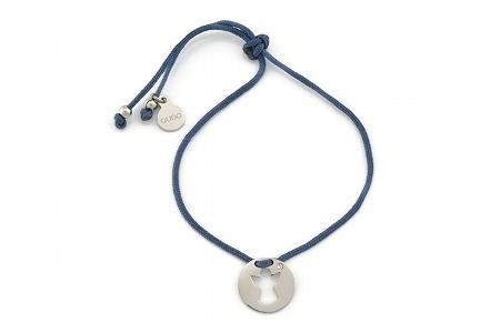 "Armband ""Schutzengel"", navy/silver, 22€"