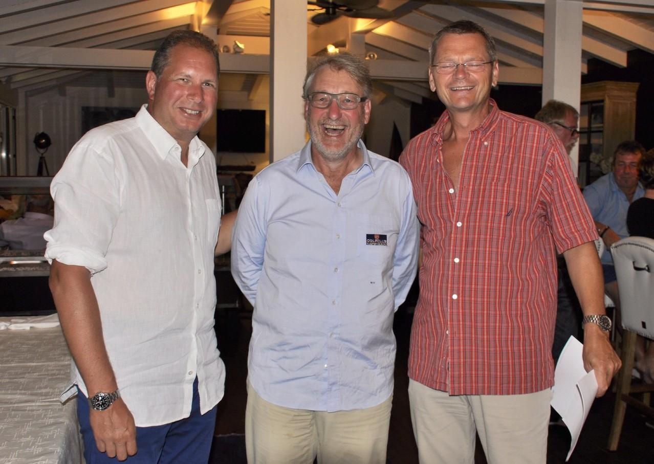 Die Protagonisten der 1. Clubmeisterschaften des GCKlosterneuburg: Martin Lechner, Walter Hennemann, Roland Hahn