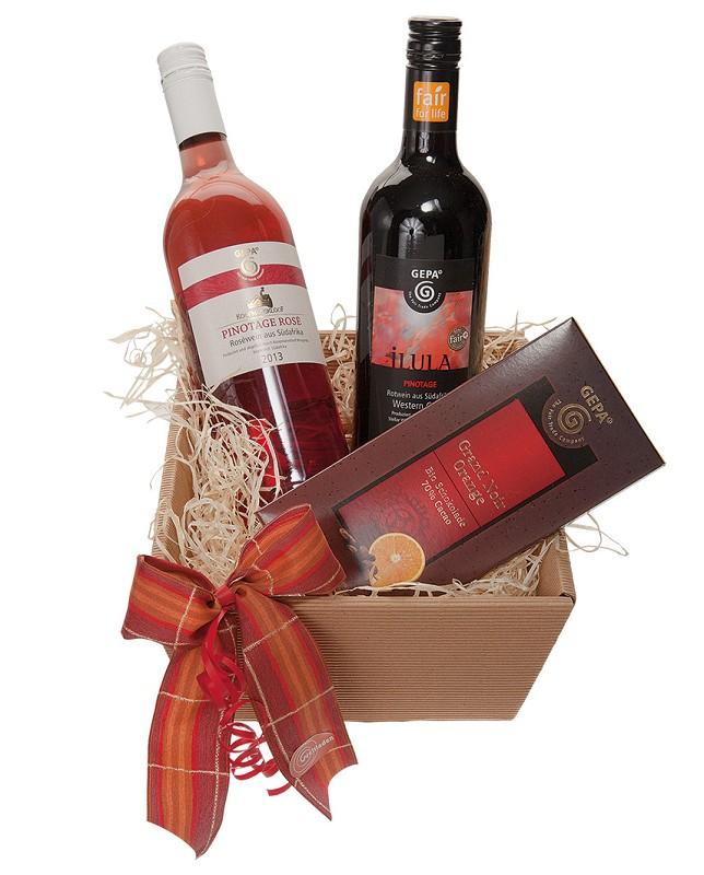 """Geschenkkorb """"Wein & Schokolade"""" ca. 11,90 €"""