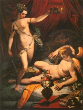 「アモールとプシュケ」 Jacopo Zucchi