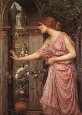 「Psyche Opening the Door into Cupid's Garden(キューピッドの庭に入るプシュケ) 」 ジョン・ウィリアム・ウォーターハウス