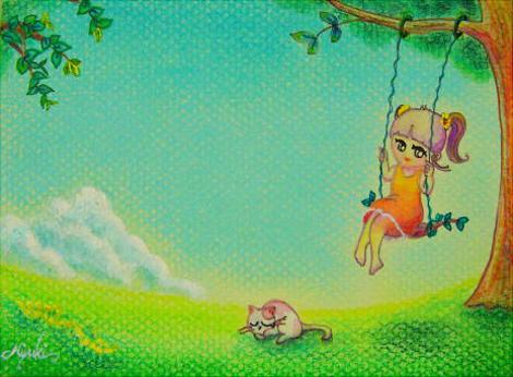 夏空間~ブランコ~    ポストカードsize