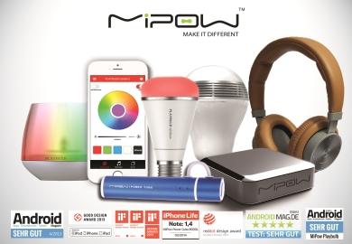 Mipow Powerbanks, Mipow Kopfhörer, Playbulb Candle, Playbulb Colour