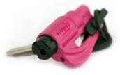 ResQMe-Rettungstool-Nothammer-Rettungshammer-Gurtmesser-Gurtschneider-pink
