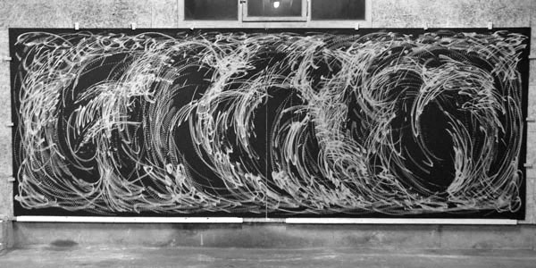 Improvisation vom 26. Juni 2013  - Holzschnitt - 580 x 207 cm