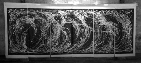 Improvisation vom 26. Juni 2013  - Druck - 580 x 207 cm