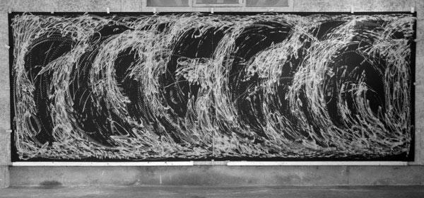 Improvisation vom 7. September 2013 - Holzschnitt - 580 x 207 cm