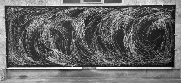 Improvisation vom 3. Juli 2013 - Holzschnitt - 580 x 207 cm