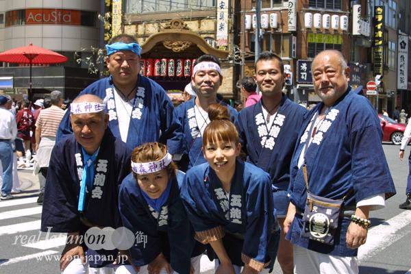 五龍会さん。東京をはじめ、埼玉大宮など色々いくよ。祭といえば生き甲斐かな。