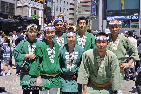 行徳・相祭會さん。大島椿まつりから、夏は筑波、千葉(千葉神社)など祭は沢山いっているよ!極楽蜻蛉の会長さまもいらっしゃいました~