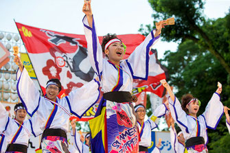 Calligraphy performance, Ryu no Ana・SKC. with Fukagawa-1 Junior High School Students
