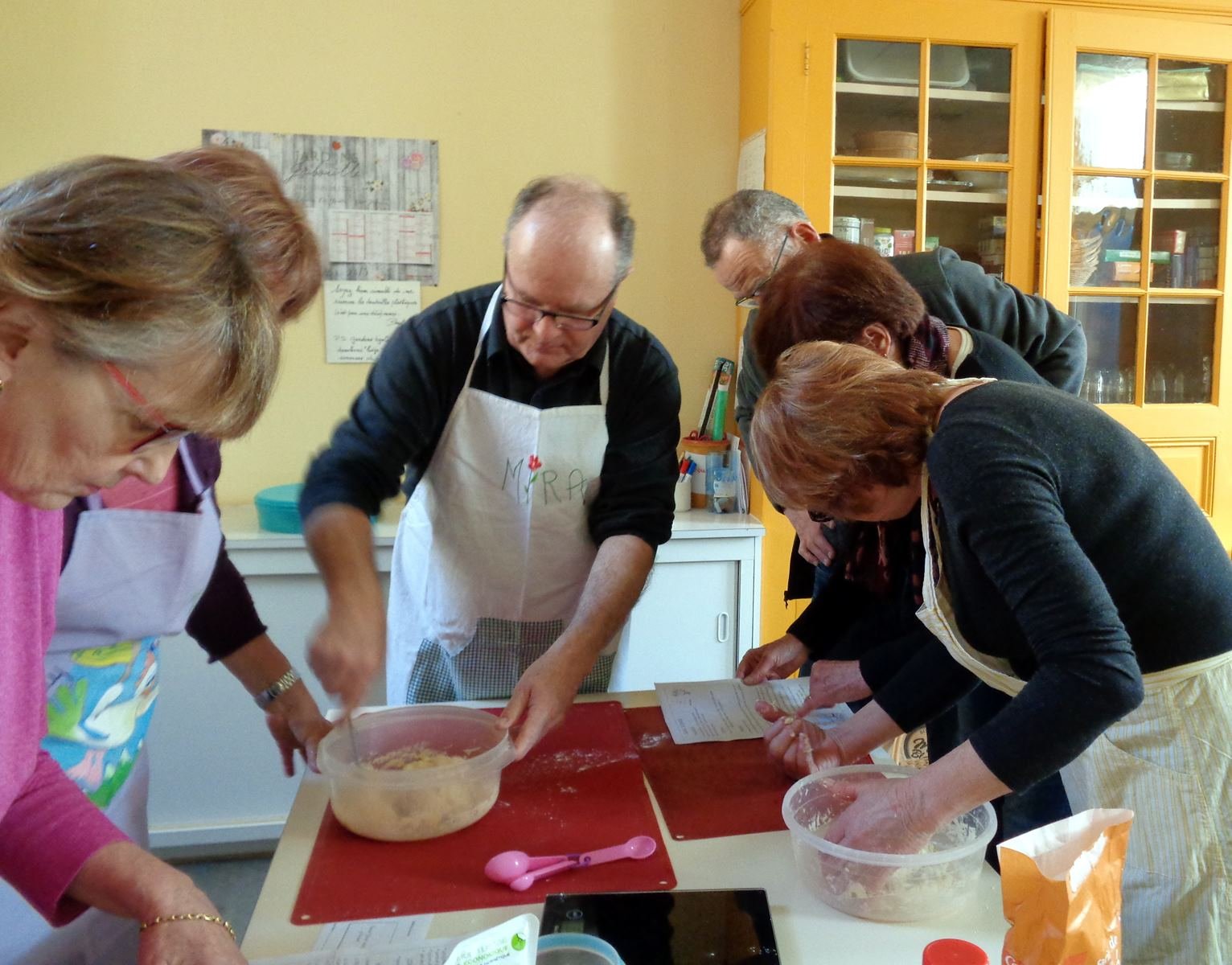 The scones teams in action and ...