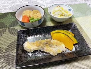 鮭のタルタルパン粉焼き