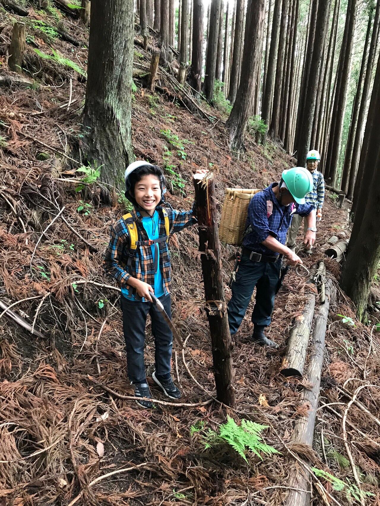 題名 小さき木こり・・・青梅成木の森ツアー