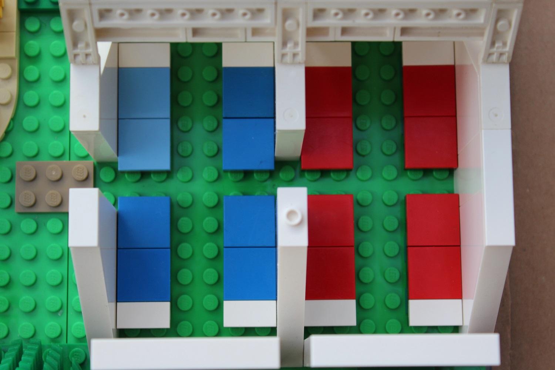 Legofeldbetten im Legozelt