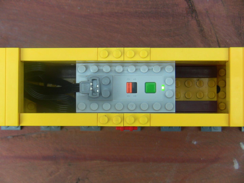 Stromversorgung im DHL-Container