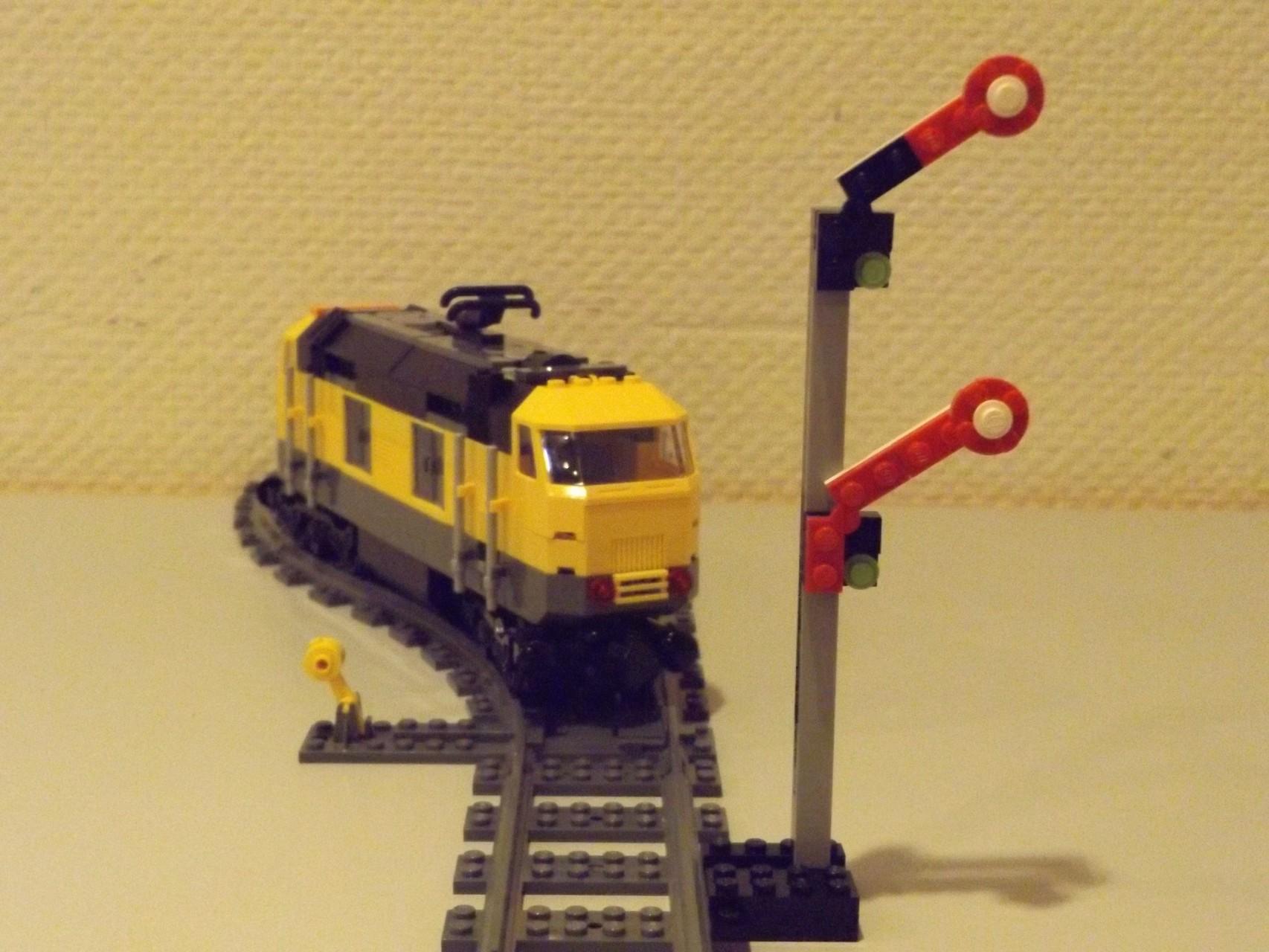Fahrt Frei für ein anderes abzweigendes Gleis