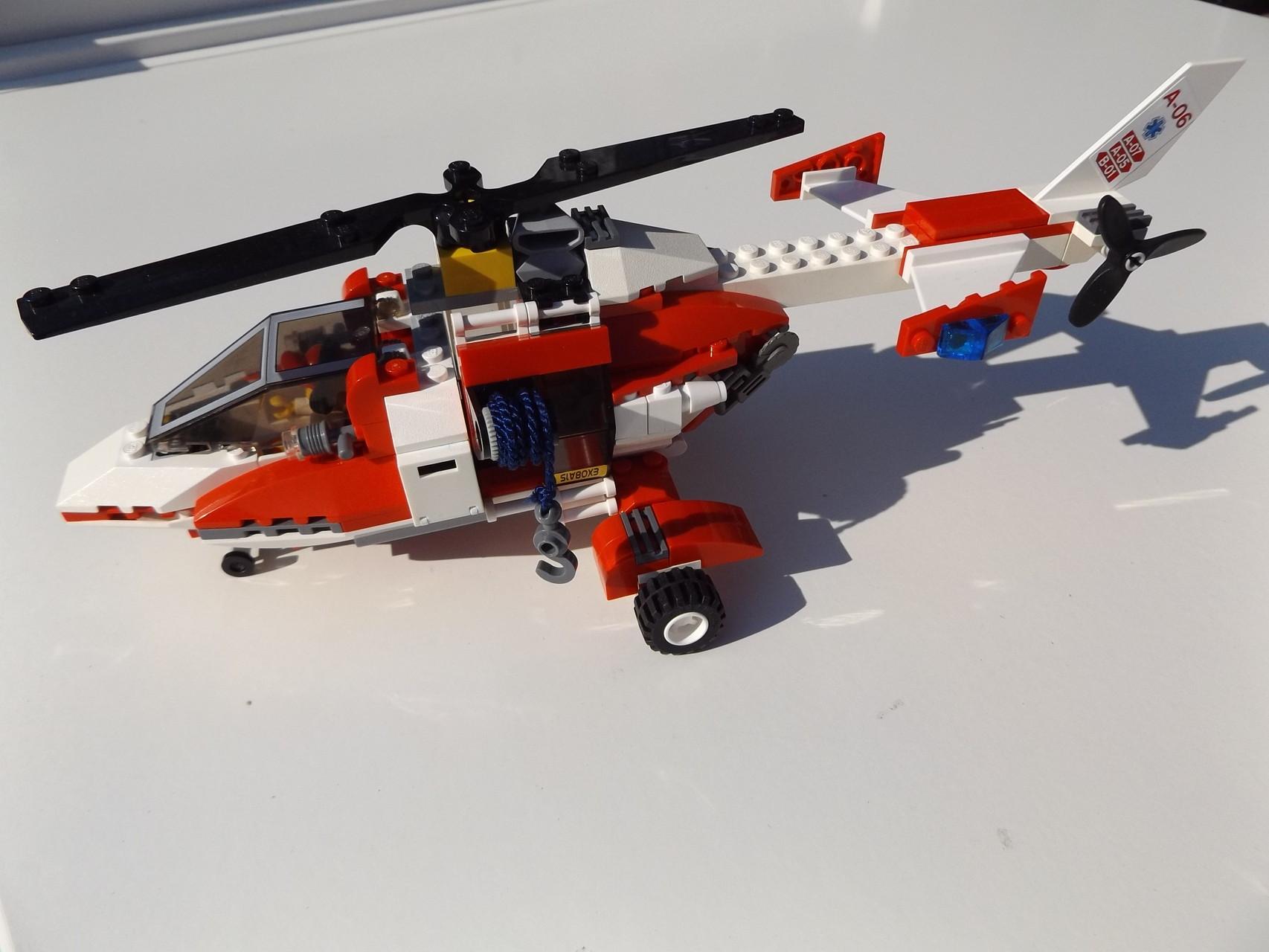 Rettungshelicopter 7903 Nachbau