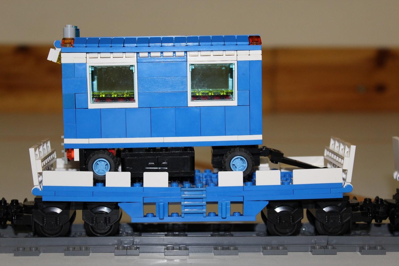 THW Eisenbahn-Waggon mit AnhWs