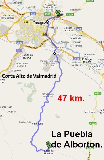 """16 de marzo - Ruta Corta """"Puebla de Alborton"""" - Ruta Larga """"Belchite""""."""