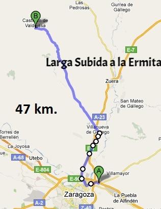 """30 de marzo - Ruta Corta """"Castejón de Valdejasa"""" - Ruta Larga """"Sierra de Luna""""."""