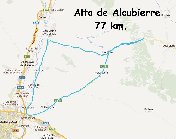 """2 de marzo - Ruta Corta """"Alto de Alcubierre"""" - Ruta Larga """"Vuelta a Tardienta""""."""