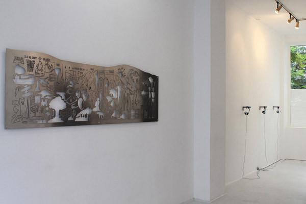 Normographe de la Boétie et normographe sonore, galerie 14 / Glassbox, Paris, 2010