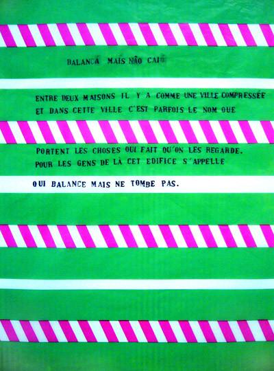 Balança mais no cai, tampons sur papier de cerf-volant
