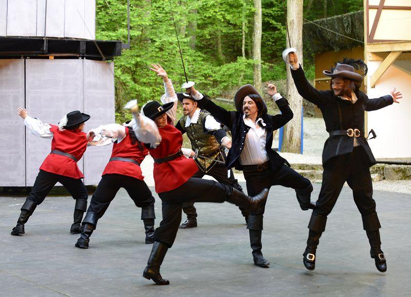 Die Musketiere im Kampf mit den Gardisten des Kardinals | Foto: M. Niethammer