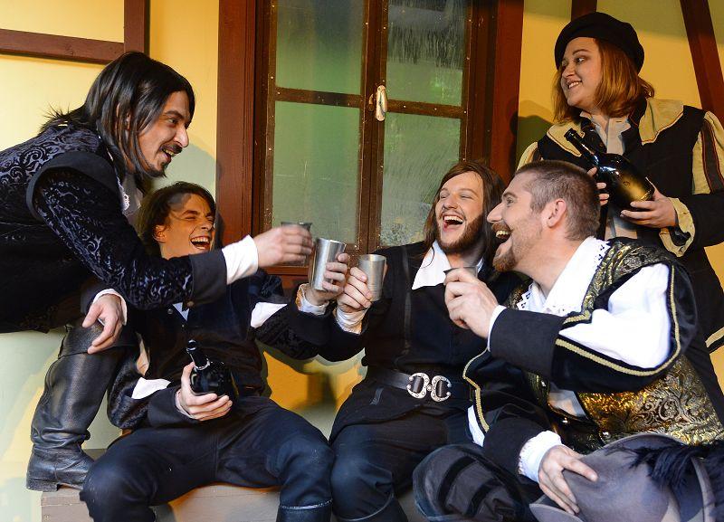 Die Musketiere und D'Artagnan wissen auch zu feiern | Foto: M. Niethammer