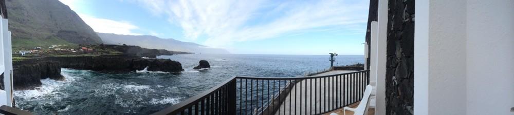 Blick vom Balkonzimmer PuntaGrande. ¡Gracias Miguel! @ El Hierro