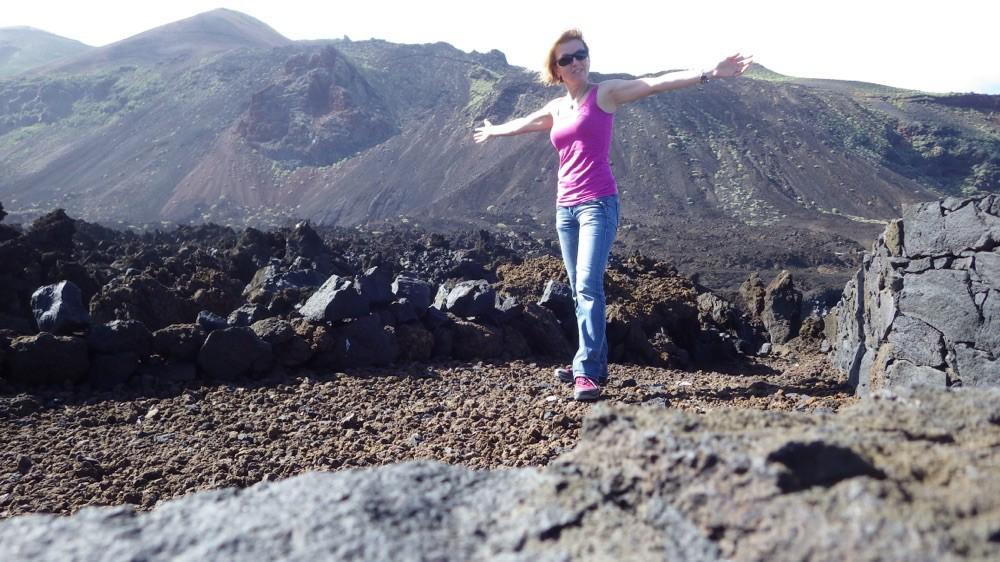 Wanderung durch Vulkangestein bei Tamaduste - Malpais. @ El Hierro