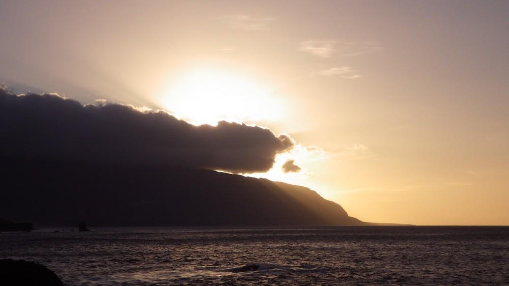 @ El Hierro: Endabschluss-Sonnenuntergang.