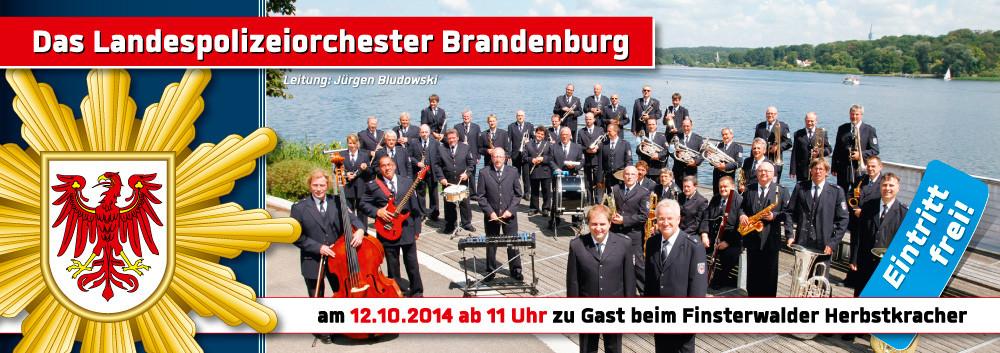 Landespolizeiorchester Brandenburg am Sonntag Mittag
