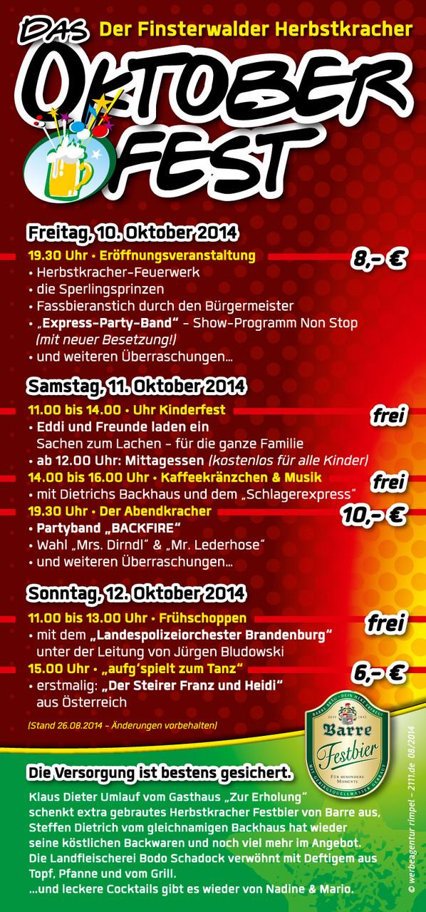 Veranstaltungsflyer - Das Programm 2014