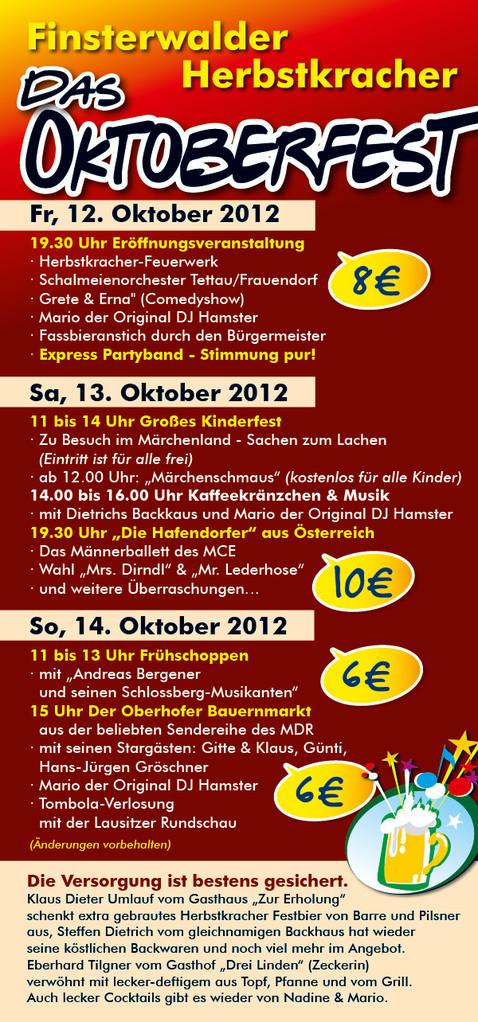 Veranstaltungs-Flyer - Das Programm
