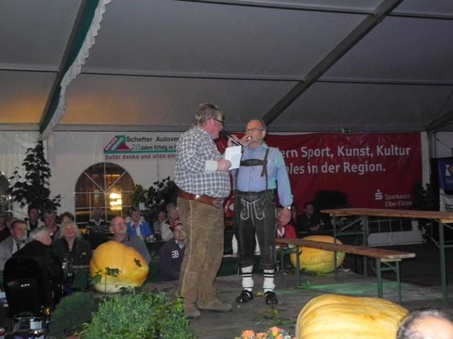 Der Original DJ Hamster und der Festwirt Klaus-Dieter Umlauf