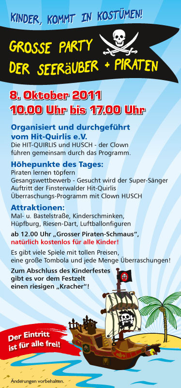 Veranstaltungs-Flyer 2011 - Kinderfest