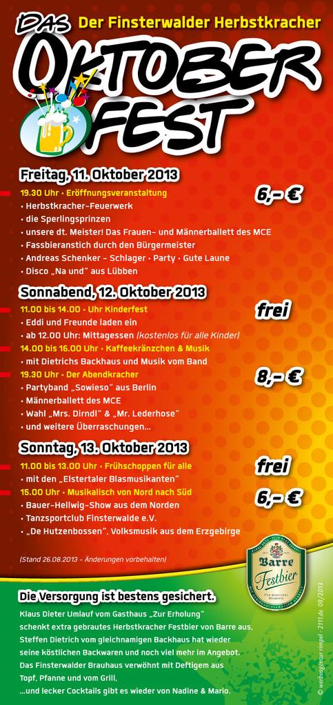 Das Programm, unser Veranstaltungsflyer (Rückseite)