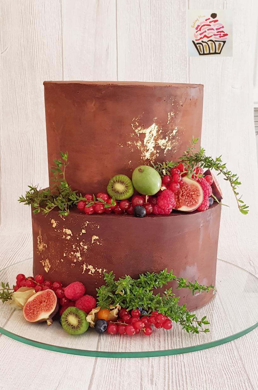 Naked Cake Ganache