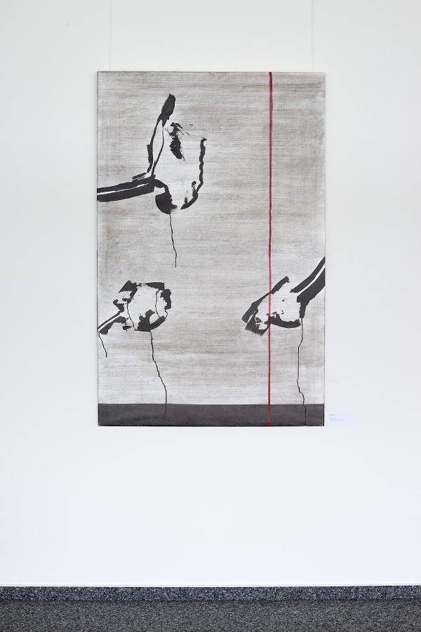 Blättergrau I, 2019, 140 x 90 cm