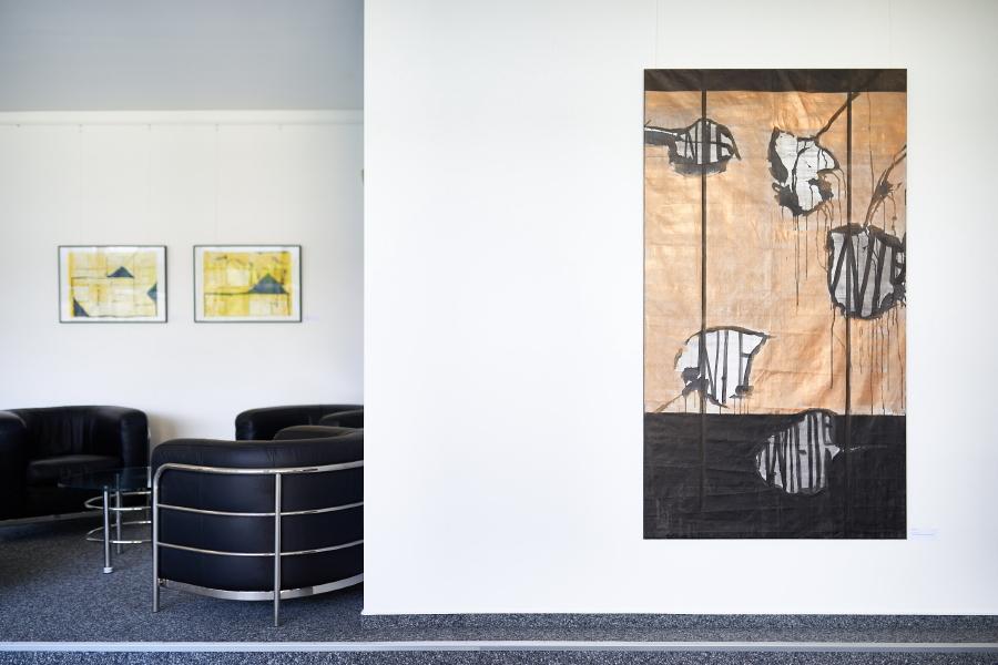 Flugblätter I, 2019, 180 x 100 cm