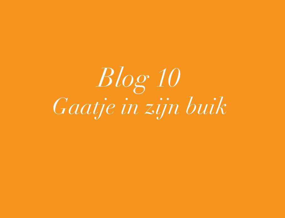 Blog 10: Gaatje in zijn buik