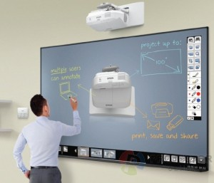 Videoprojecteur interactif dans l'entreprise