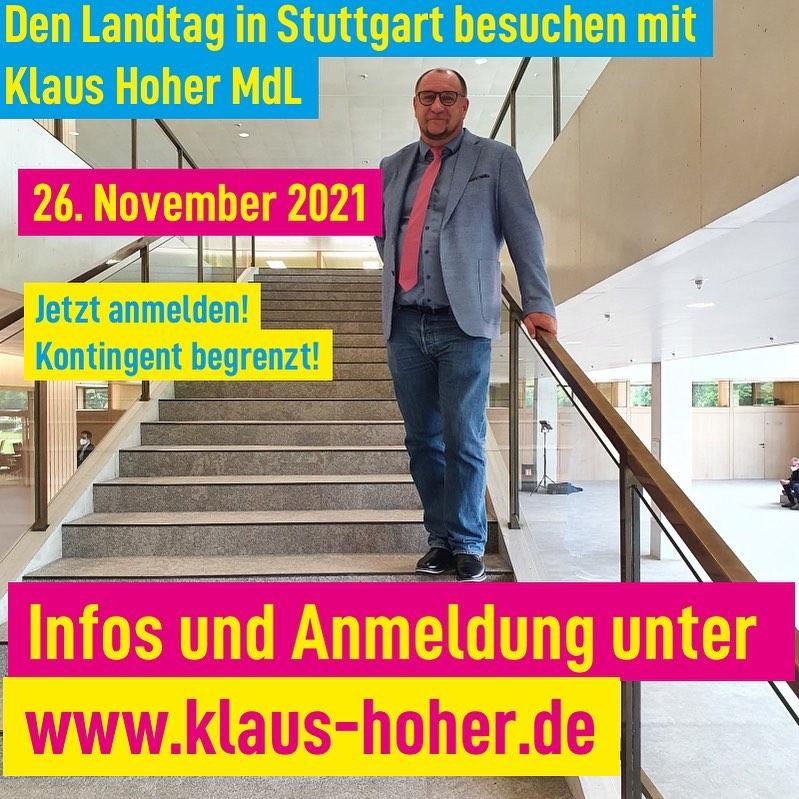 Einladung zur Landtagsfahrt am 26.11.2021!