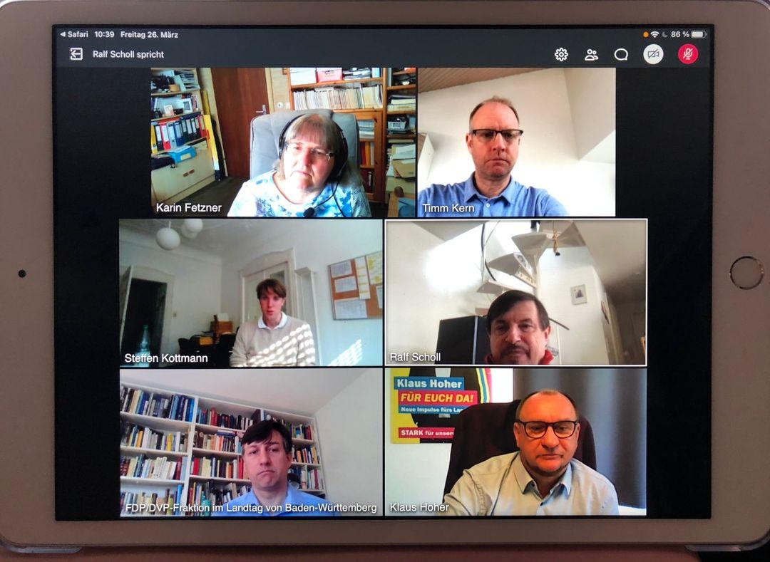 Digitales Gespräch des Arbeitskreis Bildung