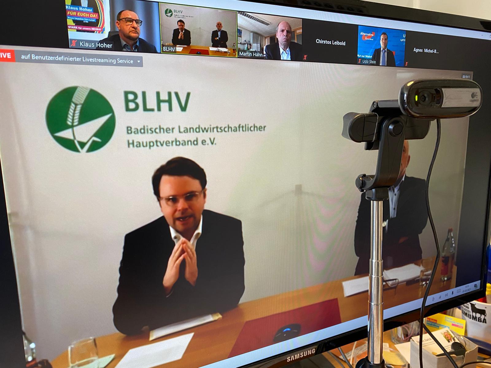 Onlinediskussion des BLHV