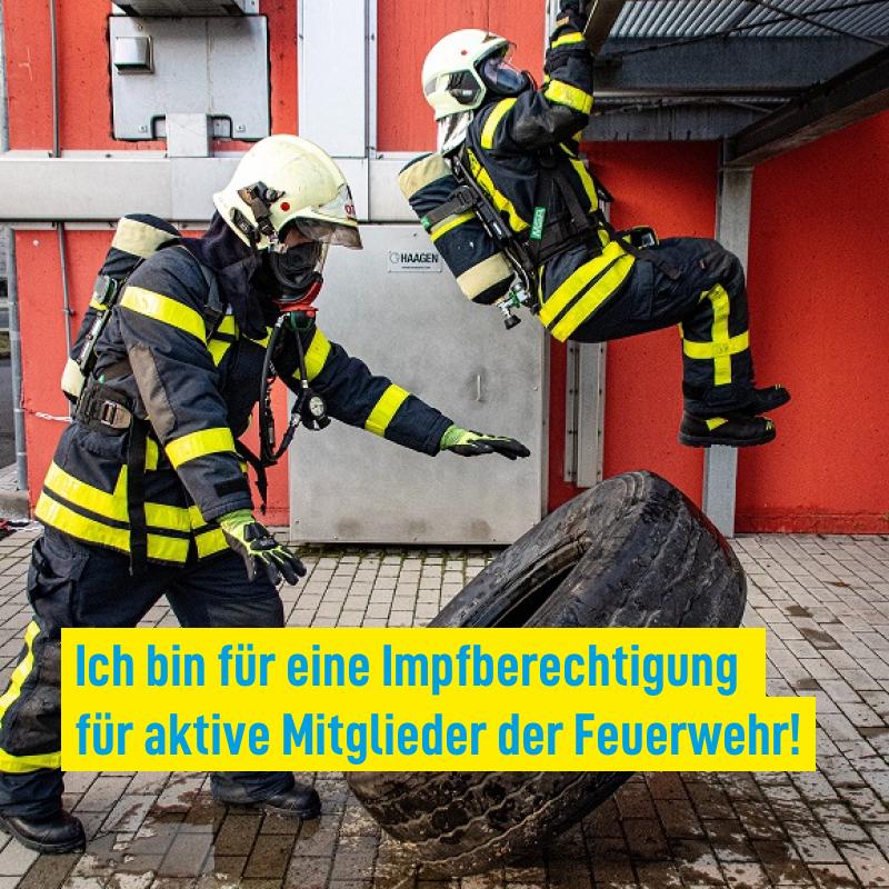 Impfberechtigung für Feuerwehren!