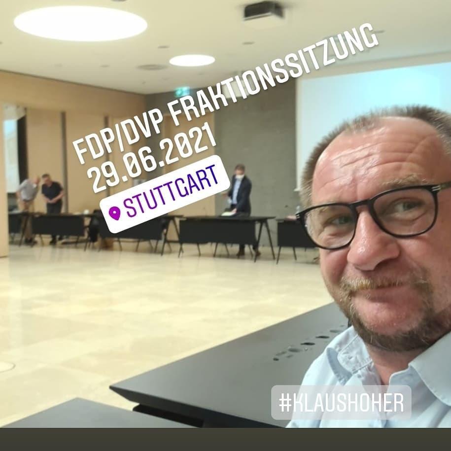 FDP/DVP Fraktionssitzung in Stuttgart